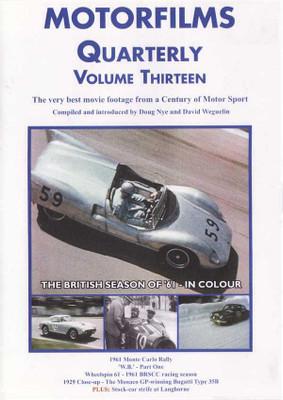 Motorfilms Quarterly Volume Thirteen DVD
