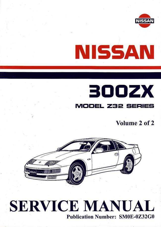 nissan 300zx model z32 series twin turbo 1990 onwards 1990 nissan 300zx repair manual 1990 nissan 300zx service manual