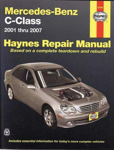 Mercedes benz c class 2001 2007 workshop manual for 1998 mercedes benz c230 repair manual