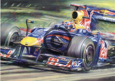 Mark Webber - Germany 2009 Print