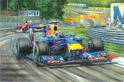 Mark Webber - 2010 Hungarian Grand Prix Print