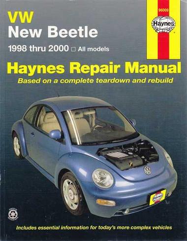volkswagen new beetle all models 1998 2000 workshop manual. Black Bedroom Furniture Sets. Home Design Ideas
