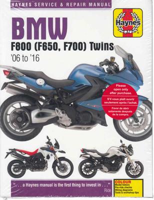 BMW F800, F650 Twins 2006 - 2016Workshop Manual (9780857339218)