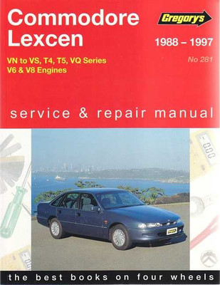 Holden Commodore, Toyota Lexcen VN to VS, V6, V8 1988 - 1997 Workshop Manual