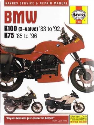 BMW K100 (2-valve), K75 1983 - 1996 Workshop Manual