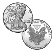 1 Troy Ounce Fine Silver Bullion Walking Liberty Round