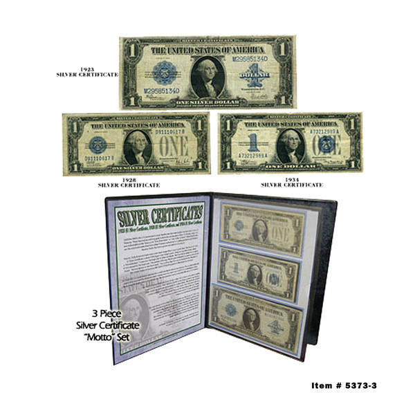 Silver Certificate Type Set