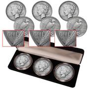 peace silver dollar mint mark set