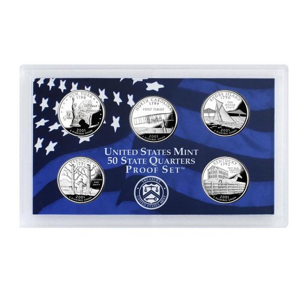 2001 U.S. Mint Proof Set of State Quarters