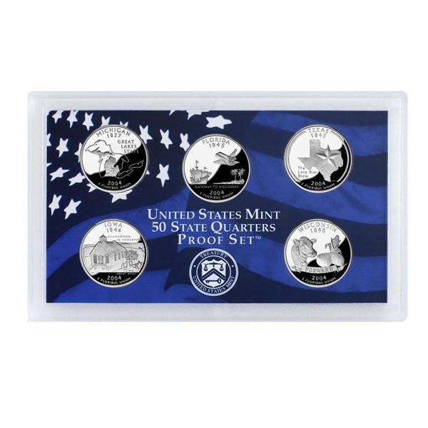 2004 U.S. Mint Proof Set of State Quarters