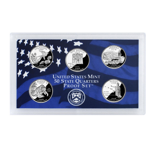 2008 U.S. Mint Proof Set of State Quarters