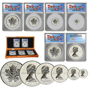 5-Piece 25th Anniversary Canadian Maple Leaf Set