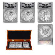 2011, 2012 and 2013 San Francisco Mint Silver Eagle Set