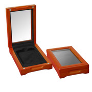 Deluxe Glass-Top Wooden Display Box for 1 Graded Coin