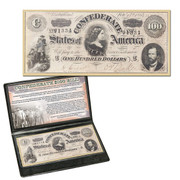 $100 Confederate Treasury Note