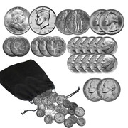 1/4 Troy Pound Of Vintage Solid Silver Coins