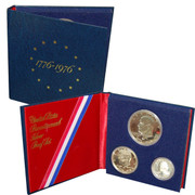 1976 3pc Bicentennial Proof Set in Original Govt Packaging