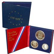 1976 3pc Bicentennial Proof Set in Original Govt Packaging