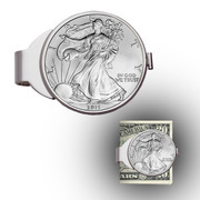 Silver Eagle Sterling Silver Money Clip