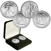 First and Last Walking Liberty Half Dollar Set