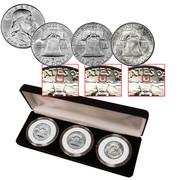 Mint Mark Set of Franklin Half Dollars