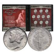 Last 10 Mercury Silver Dimes