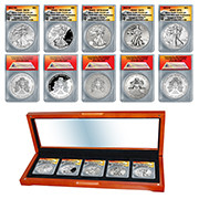 2013 Five-Coin Perfect Silver Eagle Set