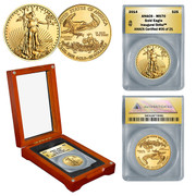 2014 1/2 oz Gold Eagle in Wood Box - Inaugural Strike