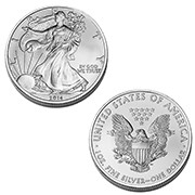 2014 Brilliant Uncirculated American Silver Eagle Dollar