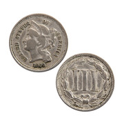 """3 Cent """"Postage Stamp"""" Coin"""