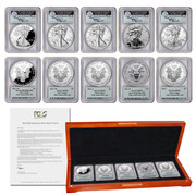 2011 25th Anniversary Silver Eagle Set–John Mercanti Autograph