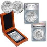 2015 MS70 Silver Eagle in Wood Box