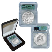 1999 Silver Eagle MS69 in Black Box
