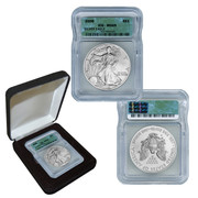 2008 MS69 Silver Eagle in Metal Box
