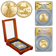 2015 Gold Proof Eagle 1/4 oz PR70 in Wood Box - Inaugural Strike