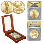 2015 Gold Proof Eagle 1 oz PR70 in Wood Box - Inaugural Strike