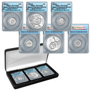 This 3 coin silver set of only 75,000 includes the first ever reverse proof silver dime from the Philadelphia mint and a proof silver dime from the West Point mint. The set also includes a 2015 March of Dimes Proof Silver Dollar.