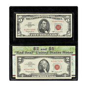 $2 & $5 Red Seal Notes with a Free $1 silver certificate
