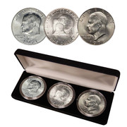 First, Last and Bicentennial Eisenhower Dollars