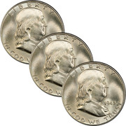 Three Decades Franklin Half Dollar Set
