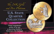 Gold and Platinum State Quarter Set