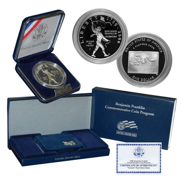 2006 Franklin Silver Dollar Scientist Proof