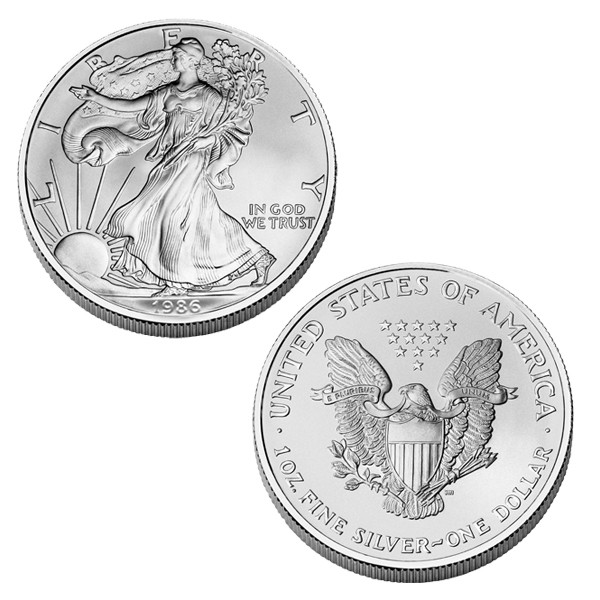 Brilliant Uncirculated 1986 American Eagle Silver Dollar