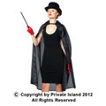 "Black Costume Cape 45"" 4524"