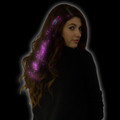 Pink Starlight Fiber Optic Hair Extensions 6161