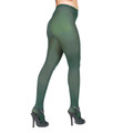 Hunter Green Opaque Pantyhose Tights 8061