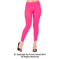 Hot Pink Footless Leggings Tights 8096