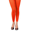 Orange Footless Leggings Tights 8097