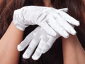 White Short Satin Gloves Adult 1202