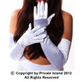 White Satin Opera Gloves 1211